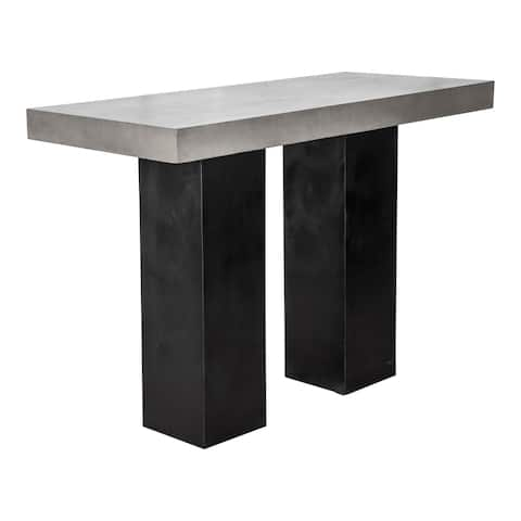 Aurelle Home Grey Concrete Outdoor Bar Table