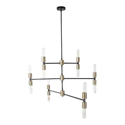 Aurelle Home 12-light Glass Orb Modern Pendant Light