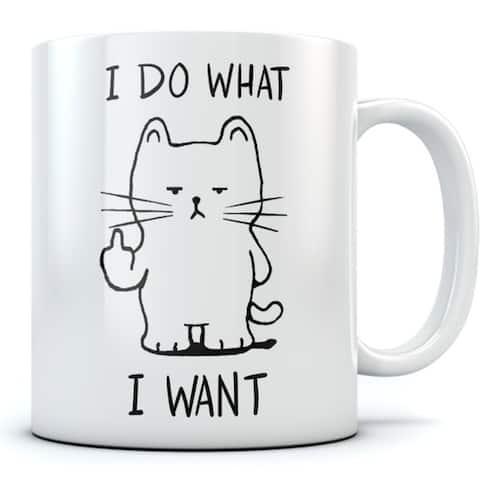 I Do What I Want Cat Funny 11 oz Coffee Mug
