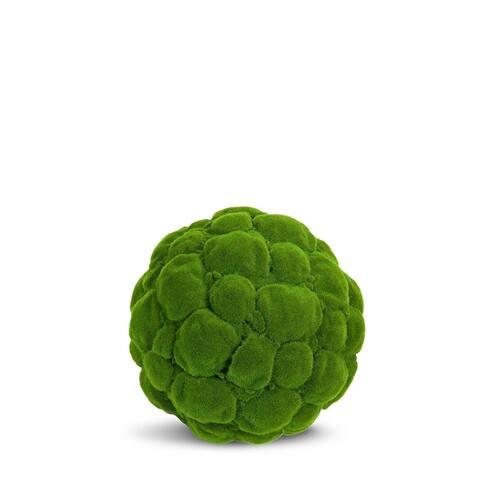 Moss Ball Artificial Faux Botanical - Green - 20 Inch