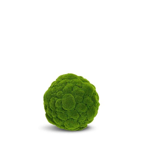Moss Ball Artificial Faux Botanical - Green - 16 Inch