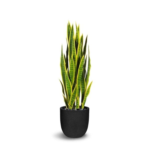 Sanseveria Artificial Green/Yellow Faux Botanical - 47 Inch