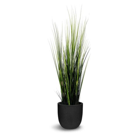 Grass Artificial Wild Grass Faux Botanical - Green - 51 Inch