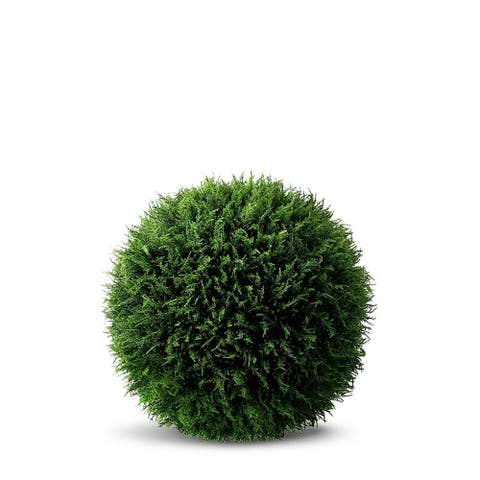 Le Present Cedar Ball Green 25-inch Artificial Faux Botanical