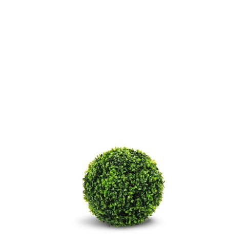 Boxwood Ball Artificial Faux Botanical - Green - 16 Inch