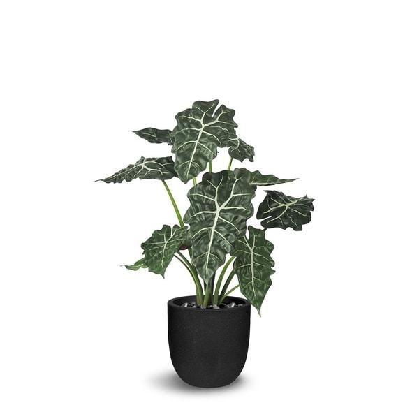 Alocasia Artificial Faux Botanical - Green - 31 Inch