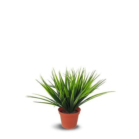 Potted Grass Artificial Faux Botanical - Green - 14 Inch