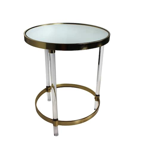 Weston Gold Round Accent Table