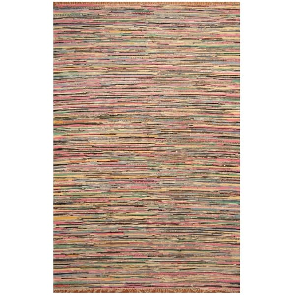 Handmade One-of-a-Kind Wool Kilim (India) - 6'7 x 10'