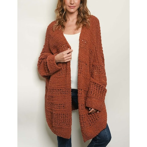 JED Women's Oversized Knitted Cardigan Sweater