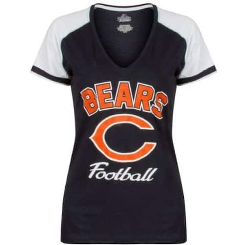 Chicago Bears Touchdown T - Size M Plus Size - Navy - MEDIUM PLUS SIZE