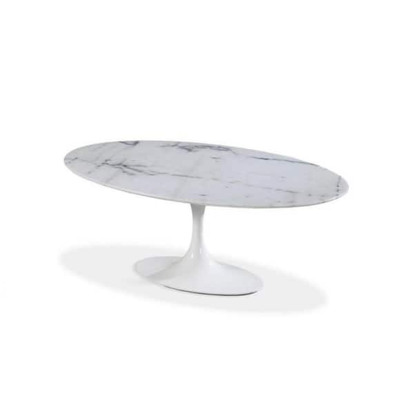 Oval Tulip Marble Dining Table