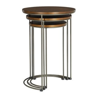 Sullivan 3 Piece Nesting Tables with Pewter Walnut Finish