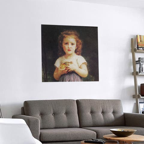 Porch & Den William-Adolphe Bouguereau 'Little Girl with Apples' Removable Art Decal