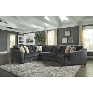 Eltmann 3-Piece Sectional with Right Arm Facing Cuddler - Slate