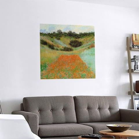 Porch & Den Claude Monet 'Poppy Field in a Hollow' Removable Art Decal