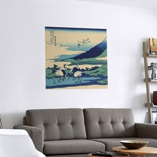 Link to Porch & Den Katsushika Hokusai 'Japanese Cranes' Removable Art Decal Similar Items in Vinyl Wall Art