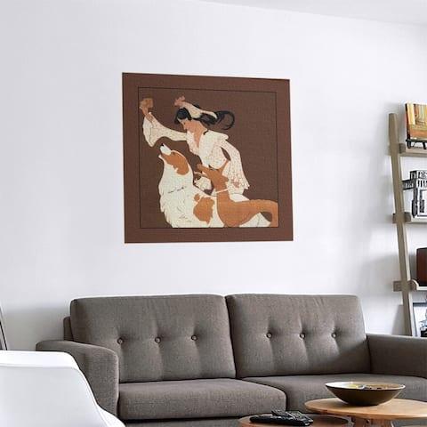 Porch & Den Auguste Roubille 'Vintage Dog Biscuit Poster' Removable Art Decal