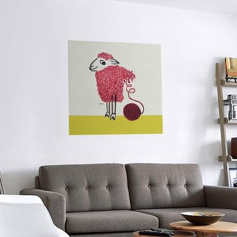 Porch & Den Raymond Savignac 'Vintage Wool Poster' Removable Art Decal