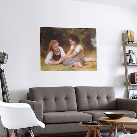 Porch & Den William-Adolphe Bouguereau 'The Nut Gatherers' Removable Art Decal