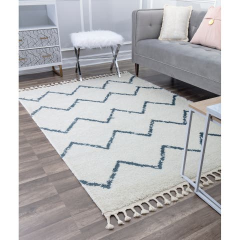 CosmoLiving Moon Collection Air Soft Touch Shag Area Rug