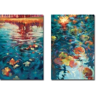 Essence & Dancing on the Water by Donna Young 2-pc Gallery Wrapped Canvas Giclee Art Set (24 in x 16 in Each Canvas in Set)