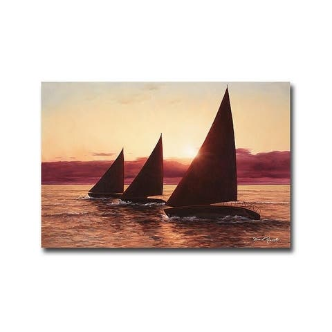Diane Romanello 'Evening Sails' Gallery Wrapped Canvas Giclee Art