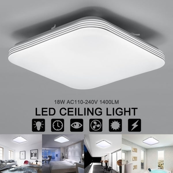 Square 18W 1400LM Energy Efficient LED Ceiling Lights Modern Flush Mount Fixture Lamp Lighting for Kitchen Bathr... (As Is Item). Opens flyout.