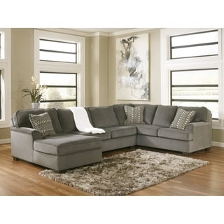 Loric 3-Piece Sectional with Left Arm Facing Corner Chaise - Smoke