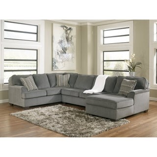 Loric 3-Piece Sectional with Right Arm Facing Corner Chaise - Smoke