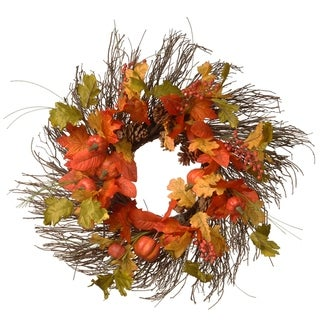 26-inch Maple Leaves Wreath