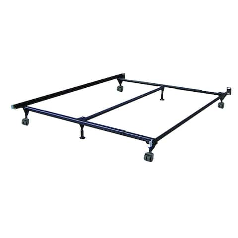 Insta-Lock Adjustable 6-Leg Bedframe with Nylon Rollers - Twin/Full/Queen/King/Cal. King
