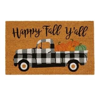 Happy Fall Y'all Coir Mat