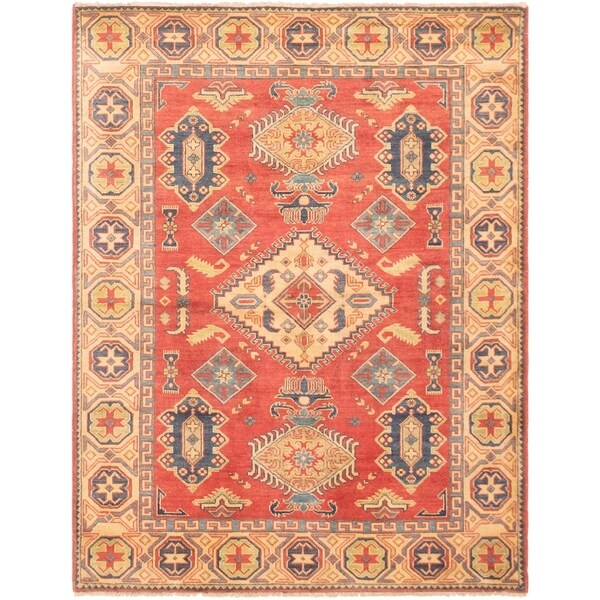 ECARPETGALLERY Hand-knotted Finest Gazni Red Wool Rug - 5'1 x 6'5