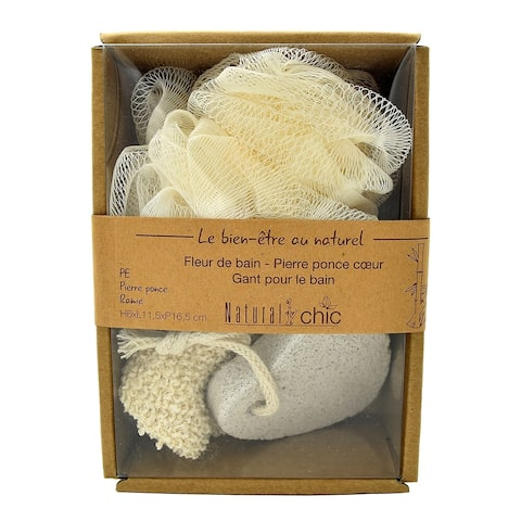 Box Spa Gift Set- 3 pieces Natural