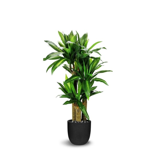 Grass Artificial Tree Trunk Dracaena Faux Botanical - Green - 51 Inch