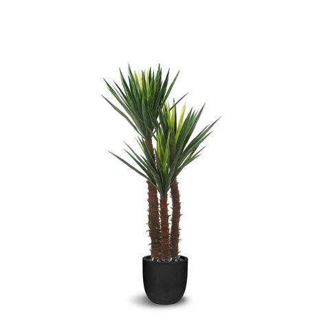 Yucca Artificial Three Trunks Green Faux Botanical - 67 Inch