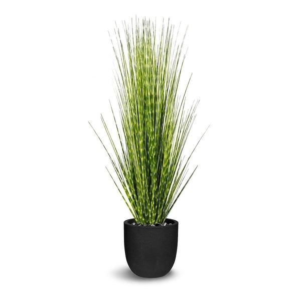Zebra Grass Artificial Faux Botanical - Green/Yellow - 52 Inch