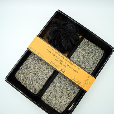 Box Spa Gift Set- 3 pieces Black