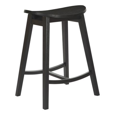 "York 24"" Scoop Counter Height Bar Stool (Set of 2)"