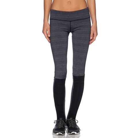 Vimmia Women's Stirrup Leggings, Static Stripe-BlacK
