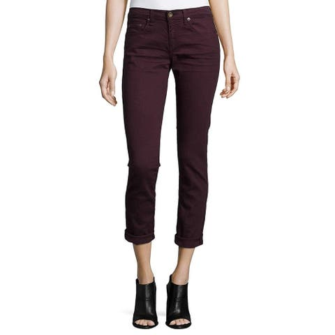 Rag & Bone Women's The Dre Denim Boyfriend Skinny Boyfriend Jeans Red Size - 24