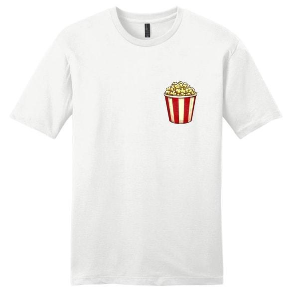 Popcorn Pocket Print T-Shirt - Unisex Fit Food Shirt