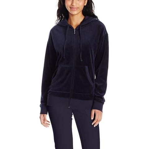 Juicy Couture Women's Velour Beachwood Track Jacket, Regal