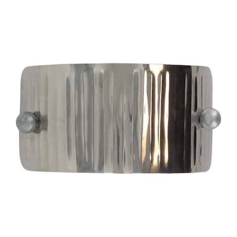 Metal Rectangular Tieback With Elastic Chrome