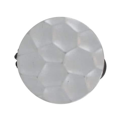 Resin Circle Clip Big Size Disco Set of 2 - Silver
