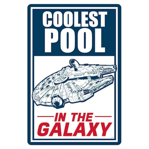 """Star Wars Pool Sign - Coolest Pool in the Galaxy - 12"""" x 18"""""""