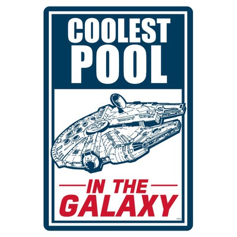 "Star Wars Pool Sign - Coolest Pool in the Galaxy - 12"" x 18"""