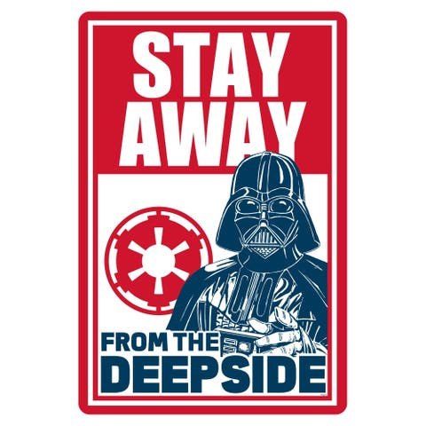 """Star Wars Pool Sign - Stay Away from the Deepside - 12"""" x 18"""""""