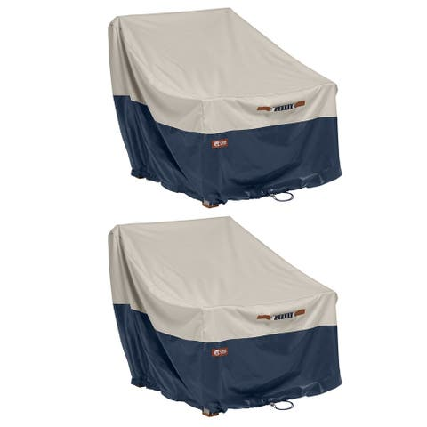 Classic Accessories Mainland Water-Resistant 38 Inch Patio Lounge Chair Cover, 2 Pack